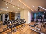 GYM OPEN 24 HRS  LOCATED ON THE GROUND LEVEL