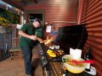 BBQing at Bilpin Springs Lodge
