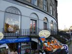 Broughton street is renoun for it's designer and boutique shops - five minutes from the flat