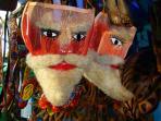 Shopping at Folk Art Markets Chinelo Masks/Mercados de Artesania Mascaras de los Chinelos