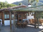 The ¨Casita¨or ¨Small House¨- which houses kitchen, dining & living area and guest room.