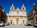 The fortified city of Mdina is just half an hour away by bus!