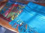 Silk and Cashmere scarves and shawls in the gallery.