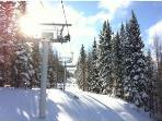 Sunrise Ski Park about 45 - 1 hour from cabin.