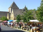 The Sunday market with many local merchants (Food, ...)