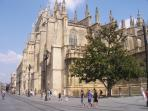 The beautiful cathedral at Seville