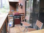 Your deck with gas barbecue and seating.