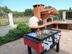 table soccer and BBQ