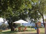 garden area for scoiattolo lodging