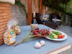 The barbecue area of Villa Nuba cottages rental in Perugia, Umbria, Italy
