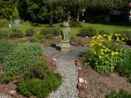 Lavender and herb garden