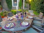 Dining outside is casual and private