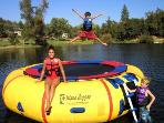 There's a Water Trampoline fun for the whole family!!