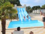 Water Slides in the pool