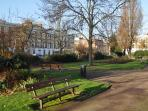 Arlington Square near to the house. A truly beautiful place to sit and relax