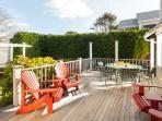 Deck off back of Priscilla house- 2 picnic tables and outdoor seating for your use - 388 Main Street (The Priscilla...