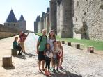 Carcassonne Fortified City UNESCO heritage site just an hour and a half away