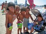 Kids at Lido del Sole Beach
