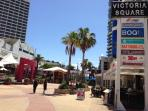 Victoria Square next to Oasis Shopping Centre with shops and restaurants