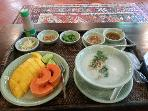 Typical Thai breakfast, meal can be prepared by our inhouse chef with advance notice