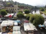 the attractive market of le Bugue on each tuesday and saturday mornings