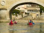 canoeing onto the Vezere river