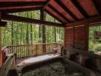 Romantic A Frame Cabin.
