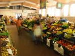 The daily Aljezur market 5 minutes walk from the house. Fresh local fruits, veges and fish!