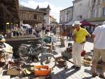 Vide grenier (car boot sale) at Villereal every month throughout the summer