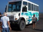 4 wheel drive buses run twice daily from Morro Jable to Punta de Jandia and onto Playa de Cofete