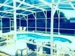 Refreshing pool with lanai
