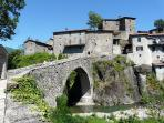Medieval bridge at San Michele just up the road