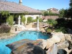 Swimming pool and Back Yard