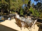 Large deck with outdoor furniture and BBQ