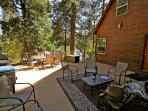 Enjoy the outdoors on the spacious deck shaded by trees