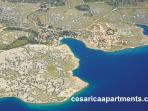 Cesarica from the air