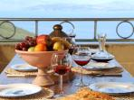 Kitchen Terrace Dining - Relax and eat with a view twards Albania