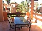 sunny terrace, great for dining