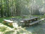 Private Picnic / Campfire Ring with Seating