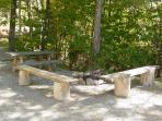 Private Picnic Table / Campfire Ring with Seating