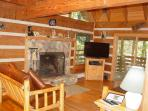 Living Room, Fireplace, 48' Flat Screen Smart TV/WiFi