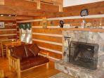 Wood burning Fireplace, living/dining area