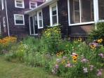 Sit and enjoy the beautiful perennial gardens