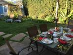 Dine like a Californian 'al fresco', to take true advantage of the weather