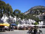 Find numerous bars and restaurants in Casemates Square, the gateway to Gibraltar's tax free shopping