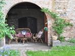 Patio and a corner of the garden, small but offer privacy-
