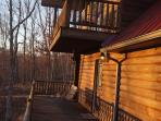Watch the sunset from the Master bedroom balcony or the porch swing.