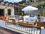 Relax on the massive penthouse terrace (exclusive use) with Sofas, table, chairs, umbrella & BBQ