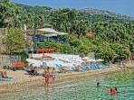 The beach taverna Glyfa very close to villa Stefanos