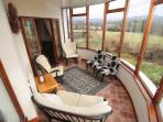 Newly refurbished conservatory with magnificent views